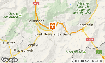 Mapa Saint Gervais Mont-Blanc Chalet 101701