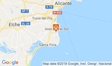 Mapa Santa Pola Casa 117899