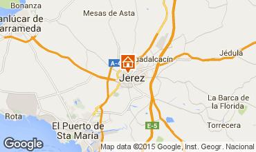 Mapa Jerez de la Frontera habitaci�n de hu�spedes ins�lita  99762