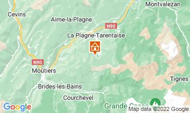 Mapa La Plagne Apartamento 77055