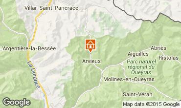 Mapa Arvieux en Queyras Estudio 536