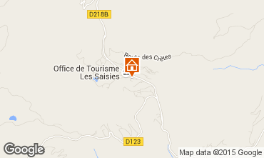 Mapa Les Saisies Apartamento 2711
