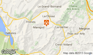 Mapa Manigod-Croix Fry/L'étale-Merdassier Apartamento 60465