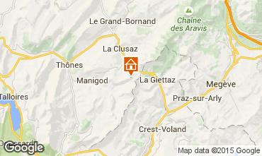 Mapa Manigod-Croix Fry/L'étale-Merdassier Apartamento 66288