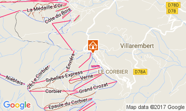 Mapa Le Corbier Apartamento 112377