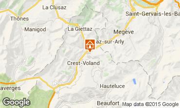 Mapa Flumet Val d'Arly Apartamento 80441