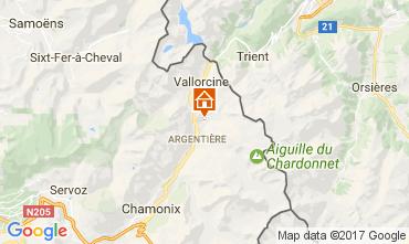 Mapa Argentière Apartamento 109896