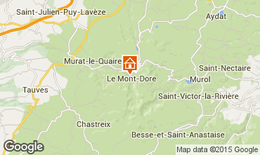 Mapa Le Mont Dore Apartamento 91221
