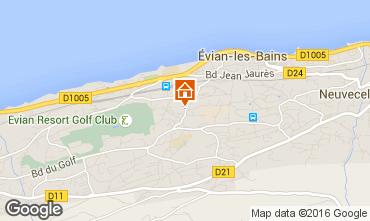 Mapa Evian les Bains Apartamento 102399