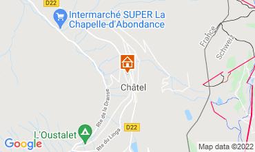 Mapa Châtel Chalet 40517