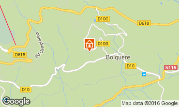 Mapa Bolqu�re Pyren�es 2000 Chalet 102291