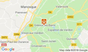 Mapa Gréoux Les Bains Villa 117404
