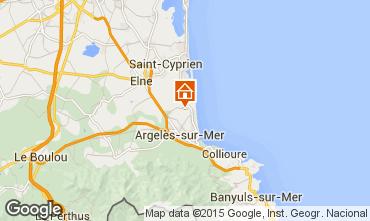 Mapa Argeles sur Mer Mobil home 22797