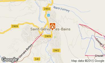 Mapa Saint-Gervais-les-Bains Apartamento 74408
