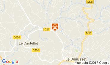Mapa Le Castellet Villa 92074