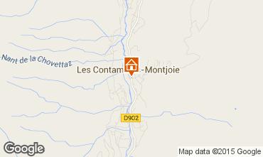 Mapa Les Contamines Montjoie Apartamento 37789