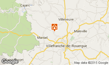 Mapa Villefranche de Rouergue Casa rural 91089
