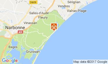 Mapa Saint Pierre la Mer Villa 112420