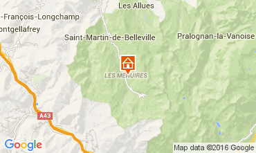 Mapa Les Menuires Estudio 39459