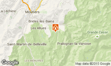 Mapa Courchevel Apartamento 73565