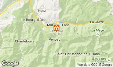 Mapa Les 2 Alpes Apartamento 58366