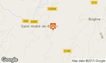 Mapa Thonon Les Bains Casa rural 67815
