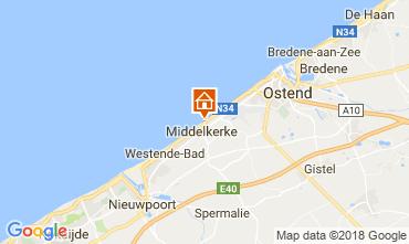 Mapa Middelkerke Apartamento 115900