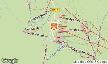 Mapa Les 2 Alpes Estudio 58369