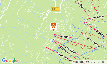 Mapa Les Arcs Apartamento 112051