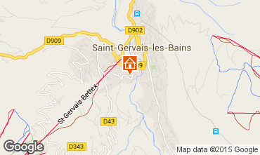 Mapa Saint Gervais Mont-Blanc Apartamento 15389