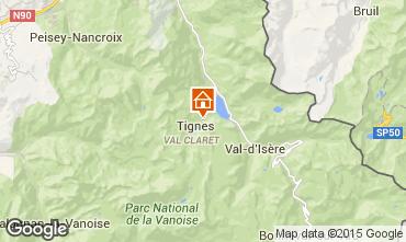 Mapa Tignes Apartamento 60012