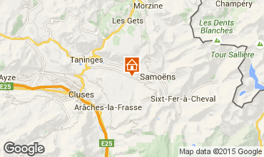 Mapa Morillon Grand Massif Chalet 66506