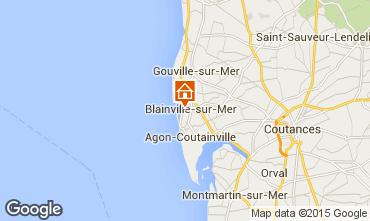Mapa Blainville-sur-Mer Casa rural 79873