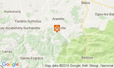Mapa Arette La Pierre Saint Martin Apartamento 3946