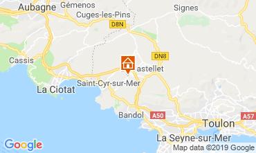 Mapa La Cadière d'Azur Villa 96924