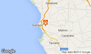 Mapa Gallipoli Villa 92673