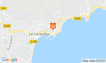 Mapa Le Lavandou Apartamento 118987