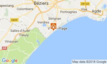 Mapa Valras-Plage Estudio 113797