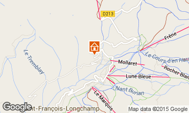 Mapa Saint François Longchamp Chalet 77938