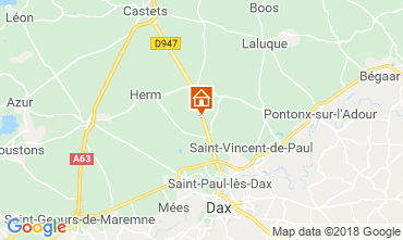 Mapa Saint Paul les Dax Casa rural 116567