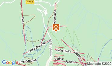 Mapa Les 2 Alpes Chalet 33878
