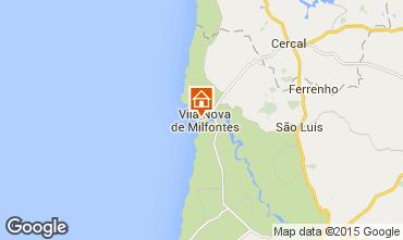 Mapa Vila nova de Milfontes Apartamento 45283