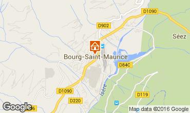 Mapa Bourg saint Maurice Apartamento 98749