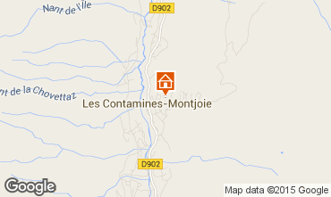 Mapa Les Contamines Montjoie Chalet 27332