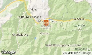 Mapa Les 2 Alpes Estudio 1201