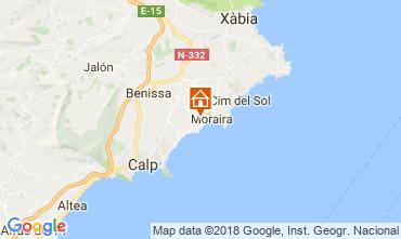 Mapa Moraira Villa 115607