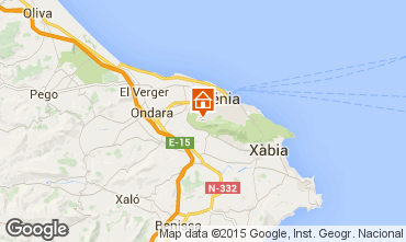 Mapa Denia Chalet 45596