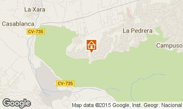 Mapa Denia Villa 45596