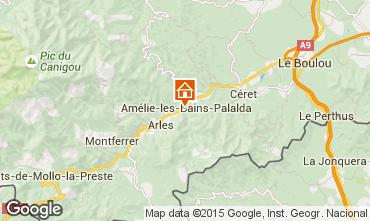 Mapa Am�lie-Les-Bains Estudio 102121