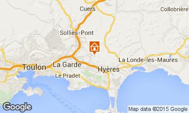 Mapa Hyères Villa 93741